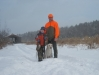 Snowy day of pheasant hunting, cousin Shannon and son Austin